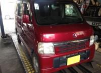 島田市のお客さまより、ホンダ バモスのタイヤ組替交換のご依頼頂きました。