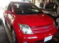 島田市のお客様より、トヨタ イストの12か月法定点検のご依頼を頂きました。