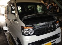 島田市 ダイハツ アトレーワゴン&ムーヴ 車検ご用命頂きました。